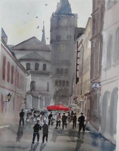 Trier Sternstraße mit Dom