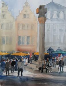 Trier Hauptmarkt mit Marktkreuz