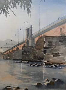 Trier Mosel und Römerbrücke