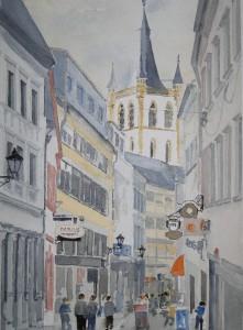 Trier Palaststraße nach St.Gangolf