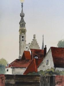Veere Rathaus Größe 38 x 56 cm
