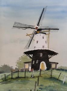 Veere Mühle  Größe 38 x 56 cm