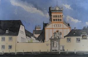 Trier Matthiasbasilika von Medardstraße