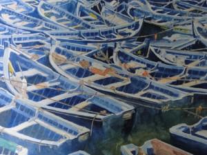 Boote im Hafen von Essaouira