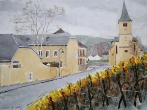 Oberemmel Weingut und Kirche