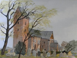 Föhr Niblum St. Johanniskirche mit Friedhof