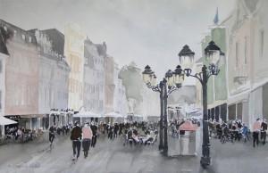 Trier  Simeonstr.  nach Hauptmarkt  38 x 56 cm