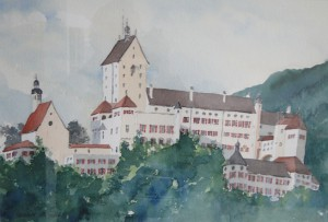 Hohenaschau  Schloss  38 x 50 cm