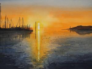 Sylt Sonnenaufgang Hafen