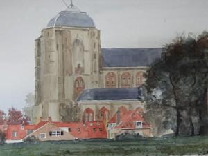 Walcheren Veere Grote Kerk Größe 38 x 49 cm