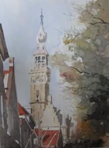 Walcheren Veere Rathaus Größe 38 x 50 cm