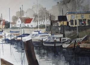 Walcheren Veere Hafen Größe 38 x 50 cm