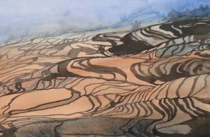 China  Reisterrassen von Yuanyang  38 x 56 cm