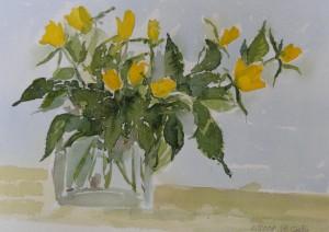 Gelbe Rosen  26 x 37 cm
