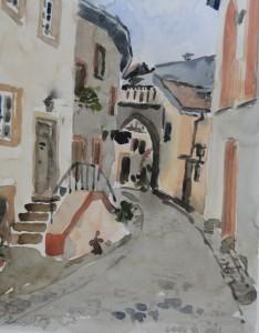 Kronenburg  Ortsstraße  26 x 36 cm