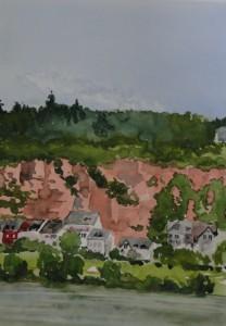 Trier  Pallien und rote Felsen  26 x 36 cm