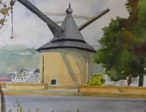 Trier  Alter Kran  25 x 37 cm