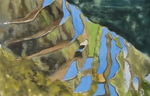 China  Reisterrassen von Yuanyang Größe 38 x 56 cm