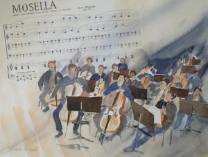 Konzertprobe  Mosella  von Pierre Thilloy  38 x 50 cm
