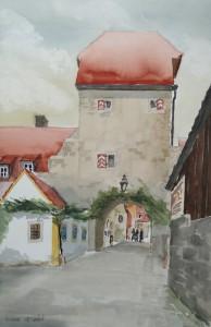 Sommerhausen  Maintor  38 x 56 cm