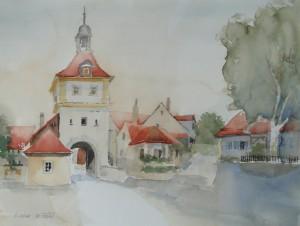Sommerhausen  Ochsenfurter Tor  38 x 50 cm
