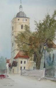 Sommerhausen  Kirche St. Bartholomäus  38 x 56 cm