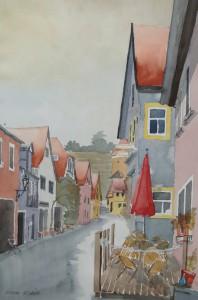 Sommerhausen  Rathausgasse  38 x 56 cm
