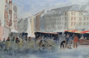 Trier HauptmarktSimeonstraßeGröße 38 x 56 cm