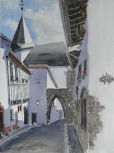 Kronenburg bei Jünkerath Größe 38 x 56 cm