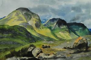 Glen Coe three sisters  Schottland  Größe 38 x 56 cm