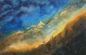NGC 1499  Kalifornianebel  Größe 38 x 56 cm