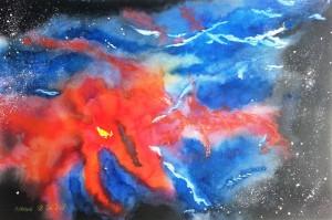 Galaktischer Nebelfleck  Größe 38 x 56 cm