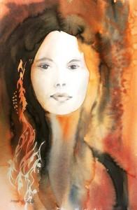 Portraitstudie  Größe 38 x 56 cm