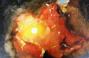Galaktischer Stern-Nebel  Größe 38 x 56 cm