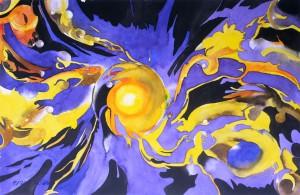 Nanobots  Goldexplosion  Größe 38 x 56 cm