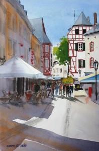 Trier  Glockenstraße  Größe 38 x 56 cm