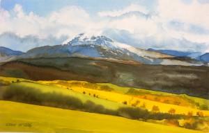Wales  Berglandschaft  größe 38 x 56 cm