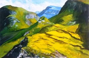 Schottland  Isle of Skye  Insel des Nebels  Größe 38 x 56 cm