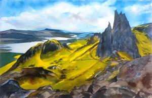 Schottland  Märchenlandschaftin der Isle of sky  Größe 38 x 56 cm