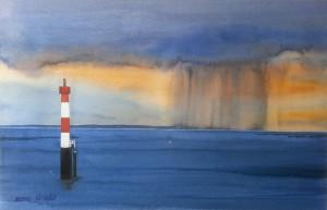 Wilhelmshaven  Leuchtturm  Voslapp Unterfeuer  Größe 38 x 56 cm