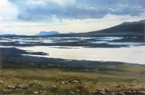 Island  Hochebene zwischen Reykjavik und bingvellie Heidi  größe 38 x 56 cm
