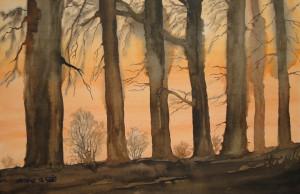 Herbstwald  Größe 38 x 56 cm