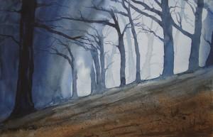 Novemberwald  Größe 38 x 56 cm